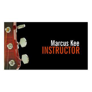 Instructor de la guitarra, música, instrumentos tarjeta de visita