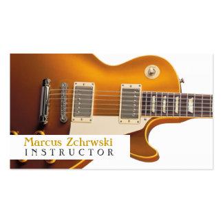 Instructor de la guitarra, música, instrumentos tarjetas de visita