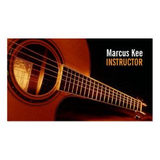 Instructor de la guitarra, música, instrumentos plantillas de tarjetas personales