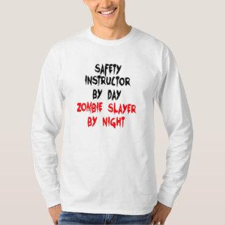 Instructor de la seguridad del asesino del zombi playera