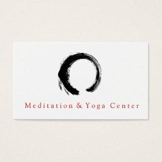 Instructor de la yoga de Enso del círculo del zen Tarjetas De Visita