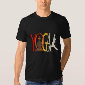 Instructor de la yoga de la camiseta del gimnasio poleras