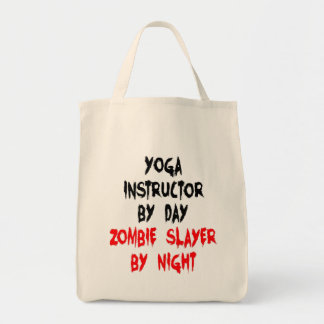 Instructor de la yoga del asesino del zombi bolsa tela para la compra