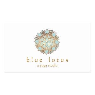 Instructor de la yoga del logotipo de Lotus azul Tarjetas De Visita