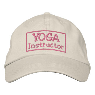 Instructor de la yoga gorras bordadas