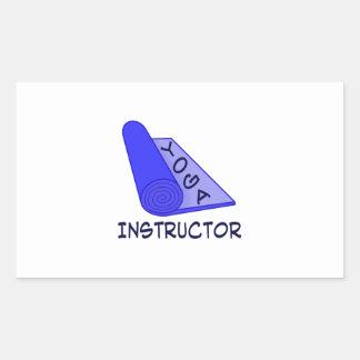 Instructor de la yoga rectangular altavoces
