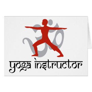 Instructor de la yoga felicitaciones