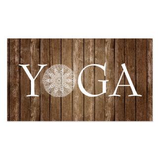 Instructor de la YOGA - tarjeta de visita de
