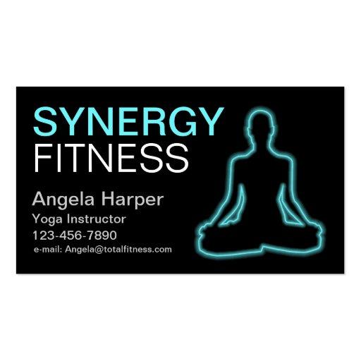 Instructor de la yoga tarjetas de visita