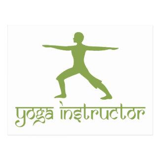 Instructor de la yoga tarjetas postales