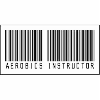 Instructor de los aeróbicos del código de barras escultura fotografica