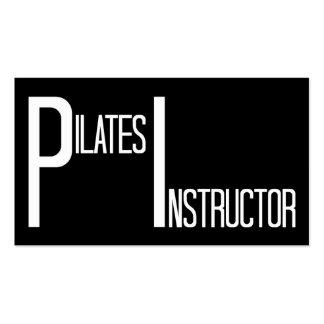 Instructor de Pilates blanco y negro Tarjetas De Visita