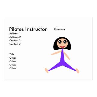 Instructor de Pilates Tarjetas De Visita Grandes