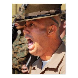 Instructor de taladro del Cuerpo del Marines de Tarjetas Postales