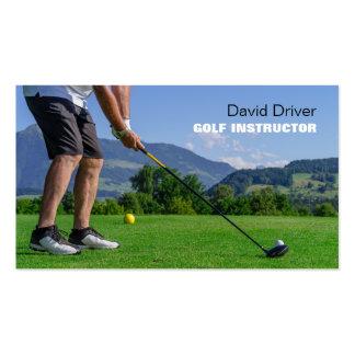 instructor del golf tarjetas de visita