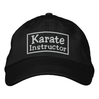 Instructor del karate gorras de béisbol bordadas