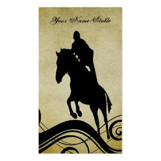 Instructor del montar a caballo o tarjeta de visit tarjetas de visita
