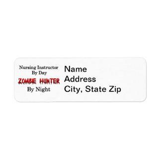 Instructor del oficio de enfermera/cazador del zom etiqueta de remite