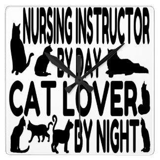 Instructor del oficio de enfermera del amante del  reloj cuadrado