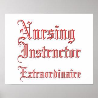 Instructor del oficio de enfermera - Extraordinair Póster