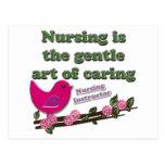 Instructor del oficio de enfermera tarjetas postales