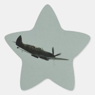 Instructor del Spitfire Pegatina En Forma De Estrella