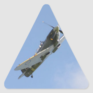 Instructor del Spitfire Pegatina Triangular