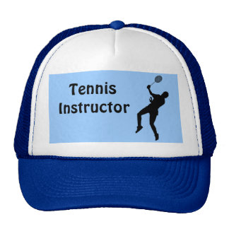 Instructor del tenis gorras de camionero