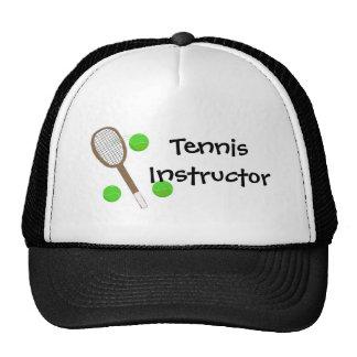 Instructor del tenis gorras