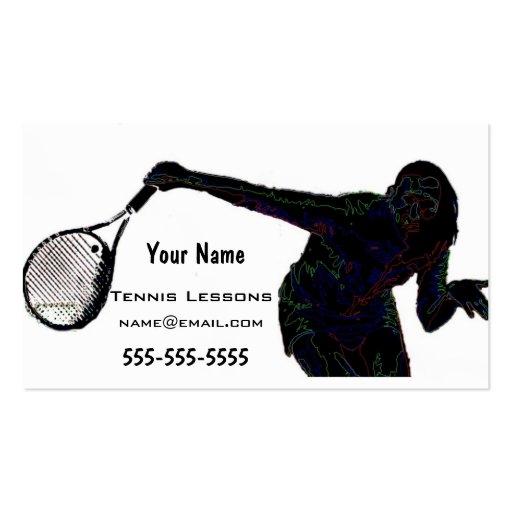 Instructor del tenis plantillas de tarjetas personales