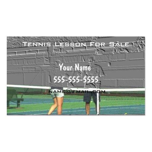 Instructor del tenis plantillas de tarjetas de visita