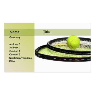 instructor del tenis tarjetas de visita
