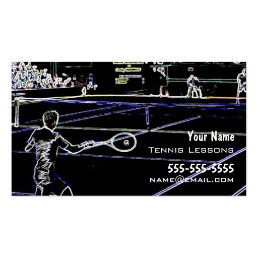 Instructor del tenis tarjeta de negocio