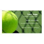 Instructor del tenis tarjeta de visita
