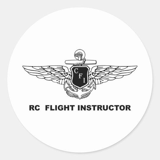 Instructor del vuelo de RC Pegatina Redonda
