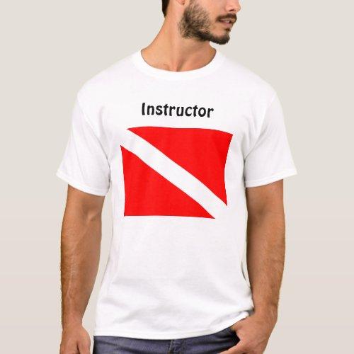 Instructor Diver Below Flag T Shirt