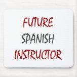 Instructor español futuro alfombrilla de ratón