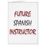 Instructor español futuro felicitación
