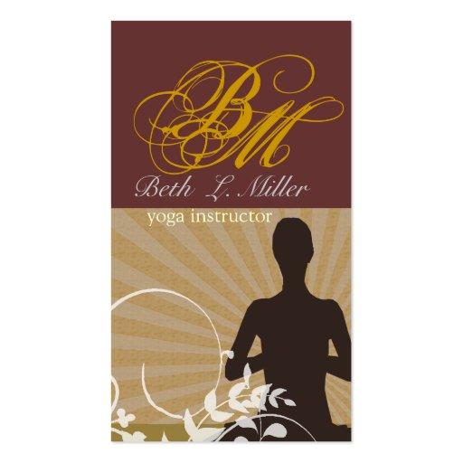 Instructor espiritual de la yoga de la meditación tarjetas de visita