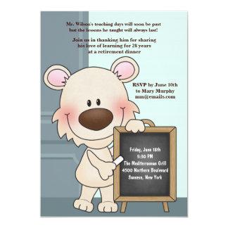 "Instructor Hound Teacher's Retirement Invitation 5"" X 7"" Invitation Card"