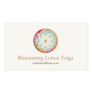Instructor Lotus de la yoga y símbolo de OM Tarjetas De Visita