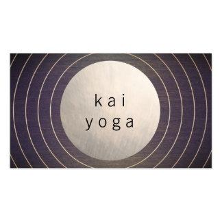 Instructor moderno fresco de la yoga de la tarjetas de visita
