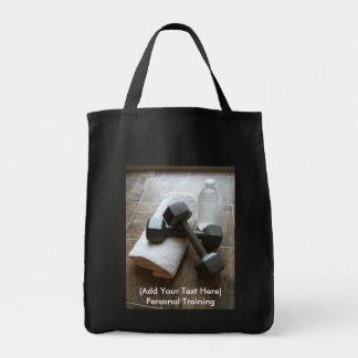 Instructor o toalla y agua personal de Dumbells de Bolsa Lienzo