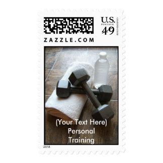 Instructor o toalla y agua personal de Dumbells de Sello