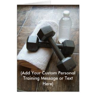 Instructor o toalla y agua personal de Dumbells de Tarjeta Pequeña