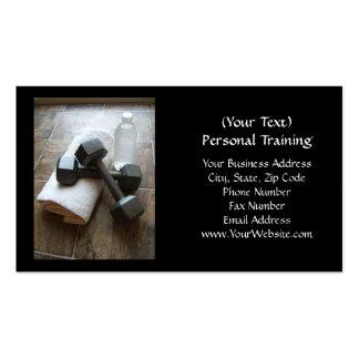 Instructor o toalla y agua personal de Dumbells de Tarjeta De Visita