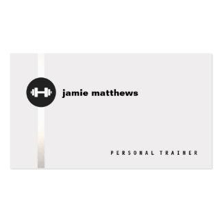 Instructor personal de la aptitud del logotipo de tarjetas de visita