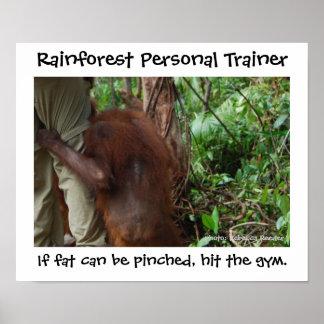 Instructor personal de la selva tropical póster