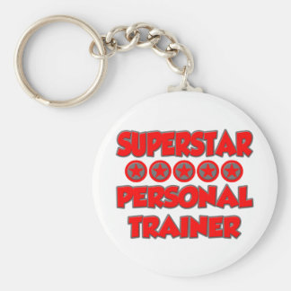 Instructor personal de la superestrella llavero redondo tipo pin