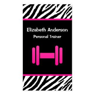 Instructor personal de moda de la pesa de gimnasia tarjetas de visita